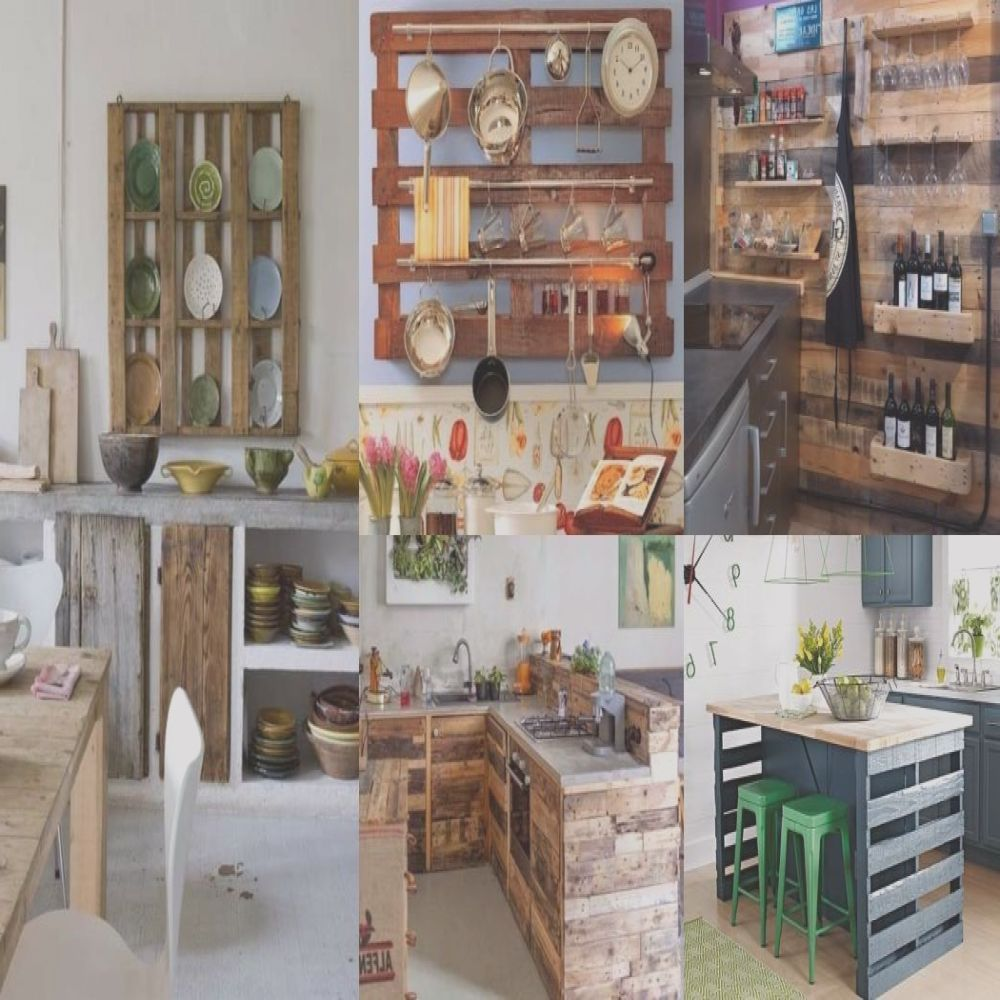 decorate kitchens with pallets
