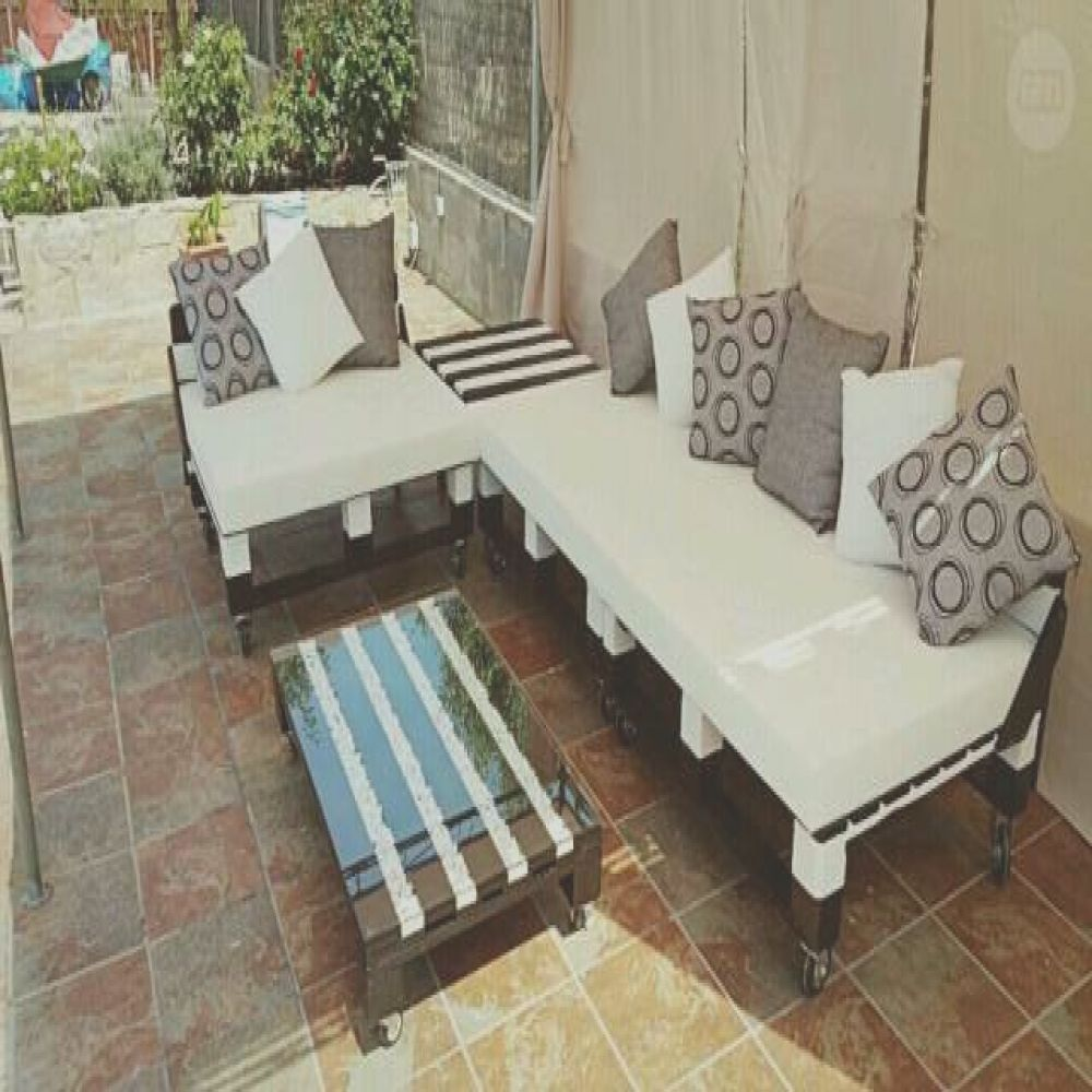 muebles con palets chill out