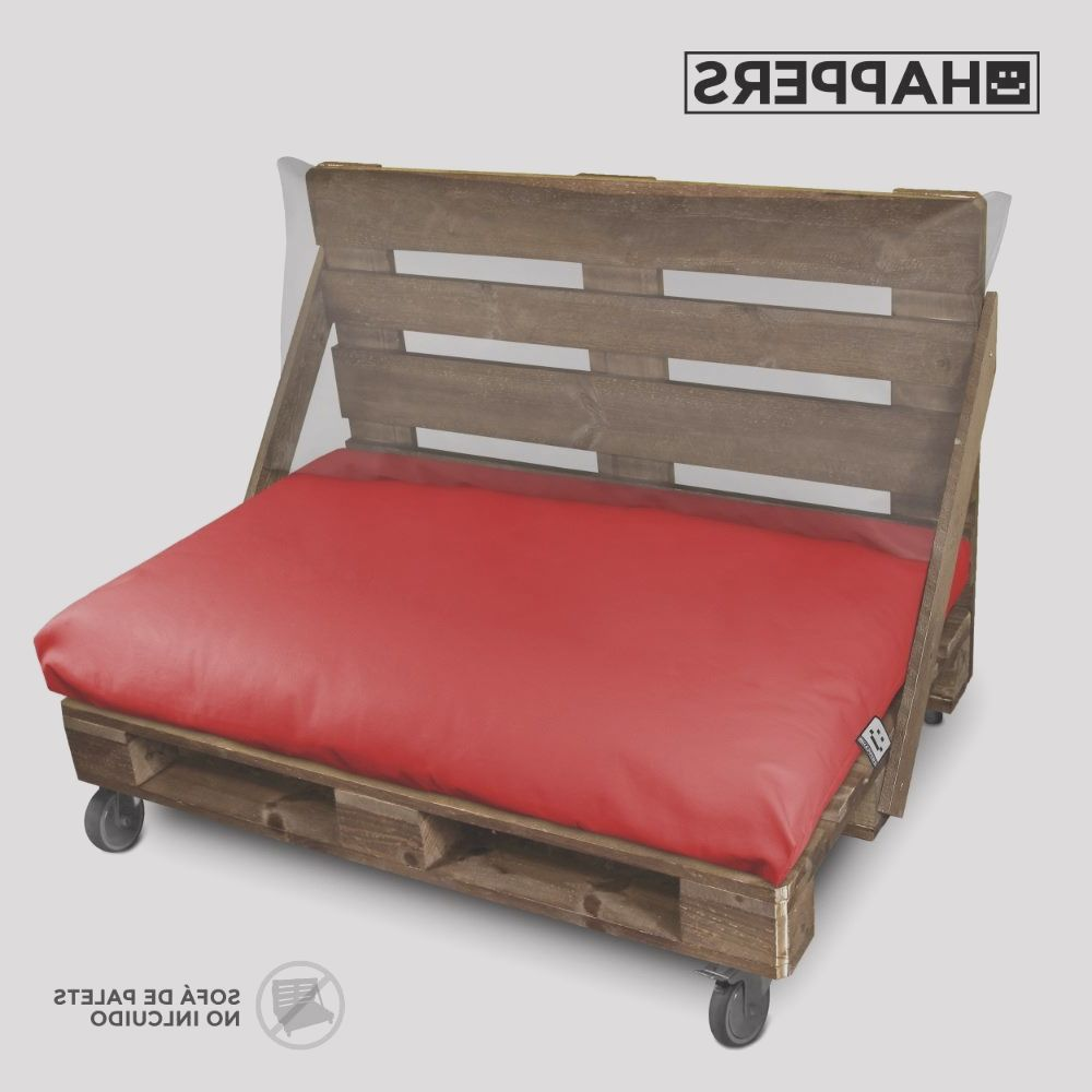 cojin asiento palet exterior rojo 120x80 happers p
