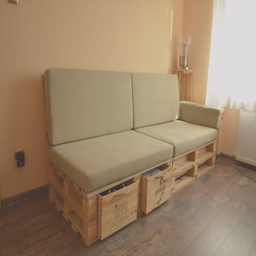diy pallet sofa with storage