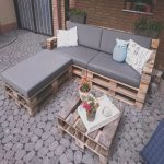 Hacer sofa Con Palets Impresionantecushioned Pallet L Sectional sofa with Coffee Table 30
