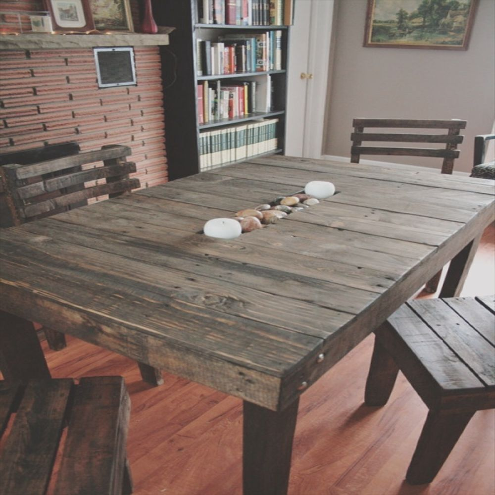 17 diy plans decorating your food area on pallet dining table