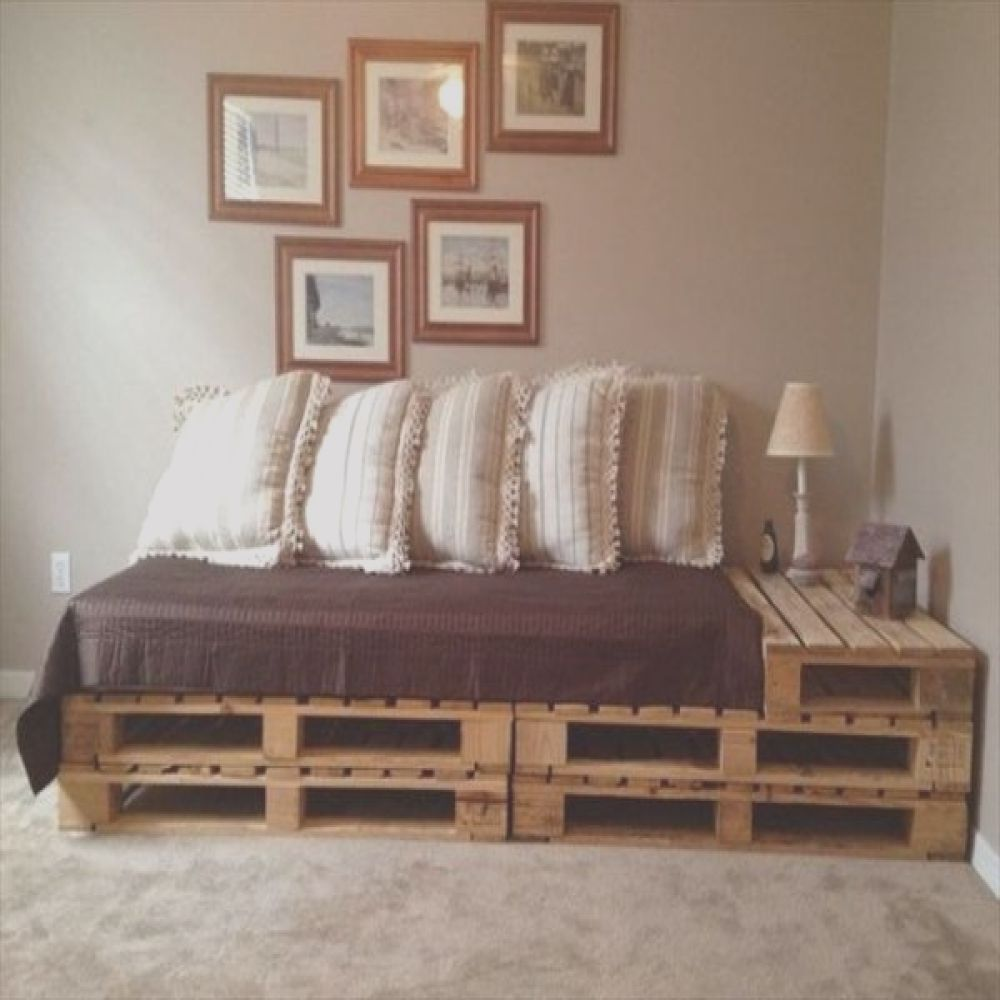 30 bed frames made of recycled pallets