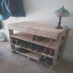 Zapatero Con Palets Únicopallet Shoe Rack Made with 2 32x32 Pallets and the End