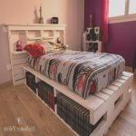 Cama Pallet Agradablegiant Pallet Bed With Storage Options
