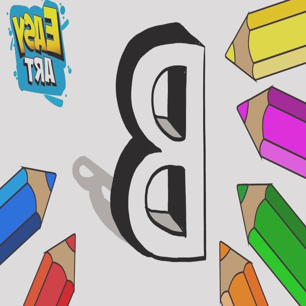 how to draw the letter b 3d for kids o dibujar letras 3d