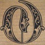 Letras O Nuevoitems Similar To Letter Initial O Monogram Old Engraving