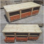 Pale De Madera Elegantepallet Table With Drawers