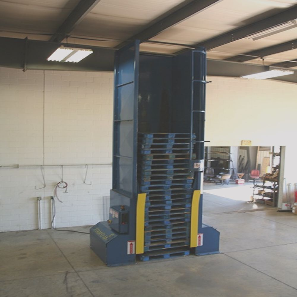 pal o matic automatic pallet dispenser used
