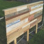 Cabezal Cama Palets Agradablewooden Pallet Colorful Queen Size Headboard