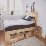 Camas De Palet Lo Mejor Depallet Wood King Size Bed With Drawers & Storage • 1001