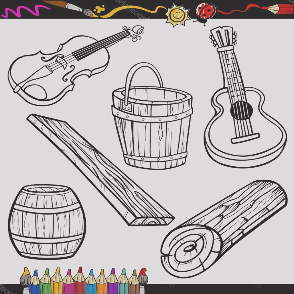 stock illustration objects oartoon set for coloring