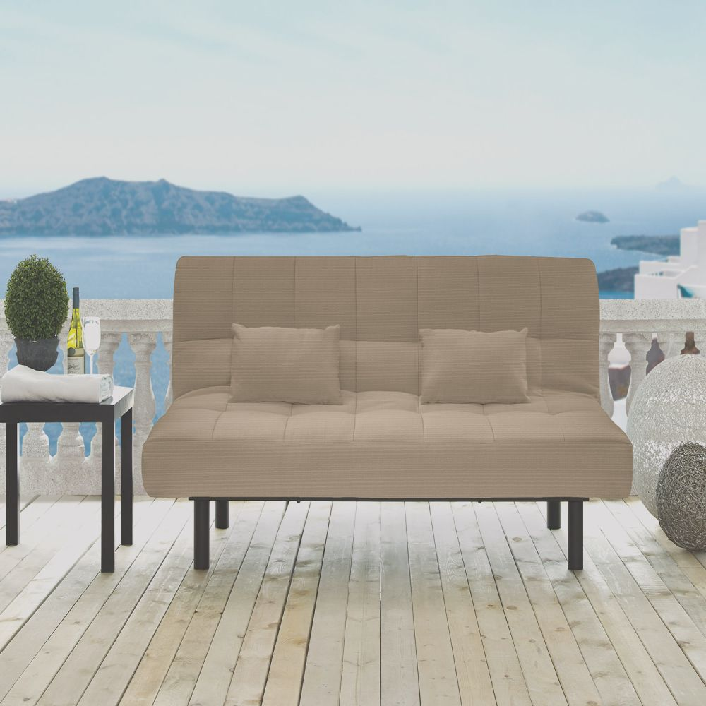 outdoor convertible futon sofabed st lucia sand