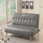Fouton Lo Mejor Debulle Contemporary Gray Futon Sofabed With Leatherette Or