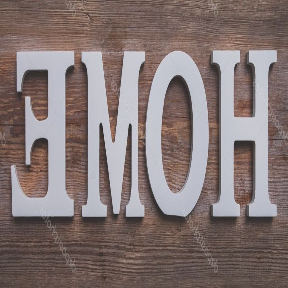 stock photo white letters with word home
