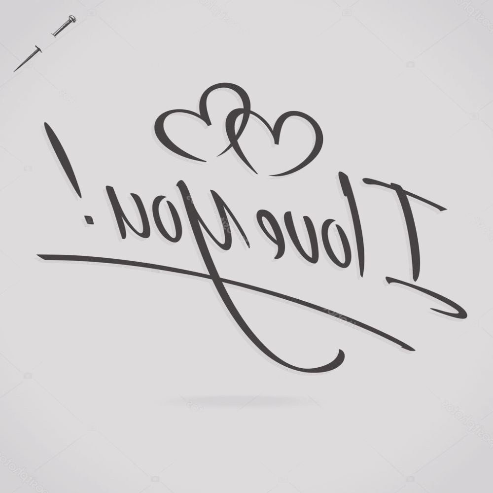 stock illustration i love you hand lettering