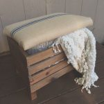 Taburetes De Palets Eleganteupholstered Crate Ottoman Hinged Lid For Storage By