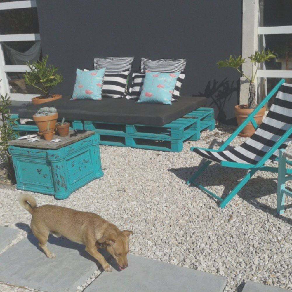 zona chill out con palets