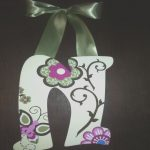 Letras De Madera Pintadas Impresionantehandpainted Letters With Butterflies And Por