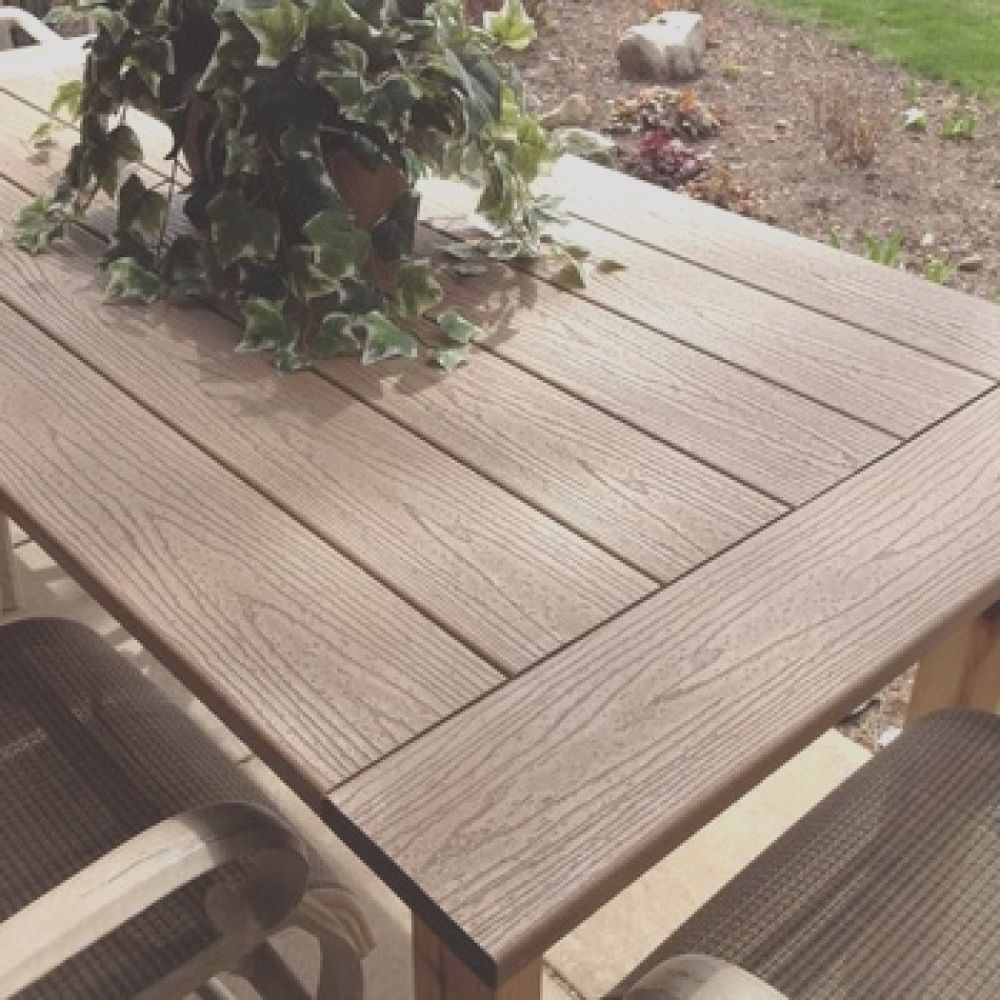 wpc posite wood slats for tables of outdoor garden furniture