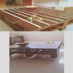 Mesa Palet Blanca Inspiradorpallet Table With White Pebbles And Glass Mesa De Pallets