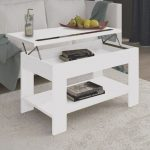 Mesa Palet Blanca Lo Mejor Delift Up Coffee Table With Shelf Underneath – Ayora Don