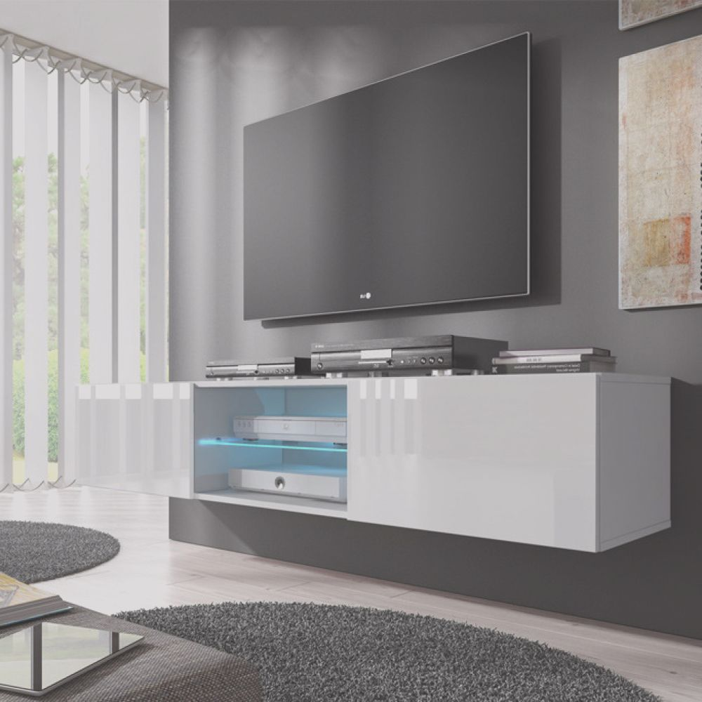 mueble tv modelo tibi 160 cm en color blanco