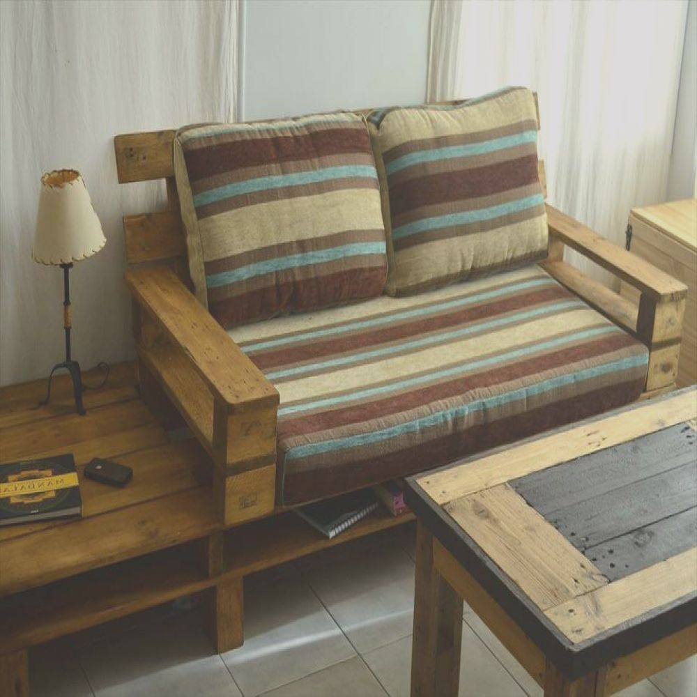 beautiful pallet sofa with coffee table