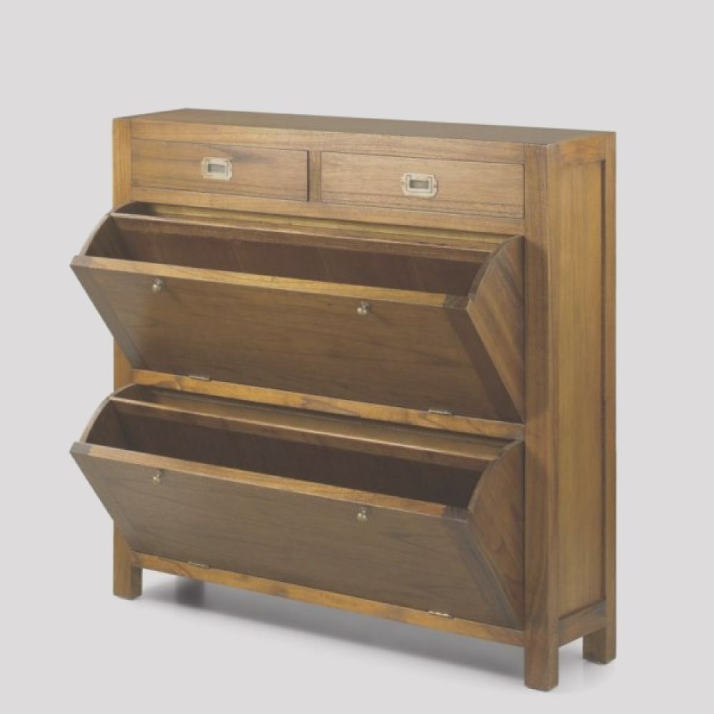mueble zapatero colonial star 100 madera hecho a mano