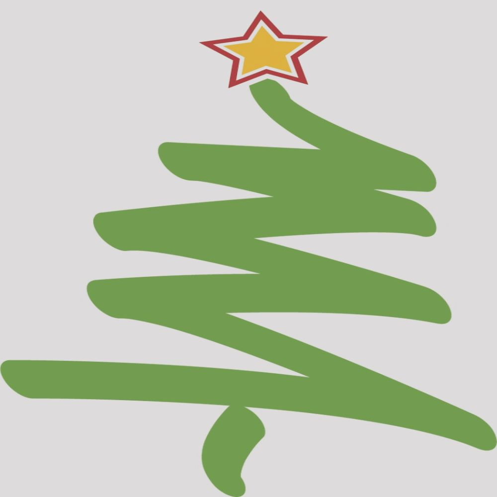 christmas tree vector material