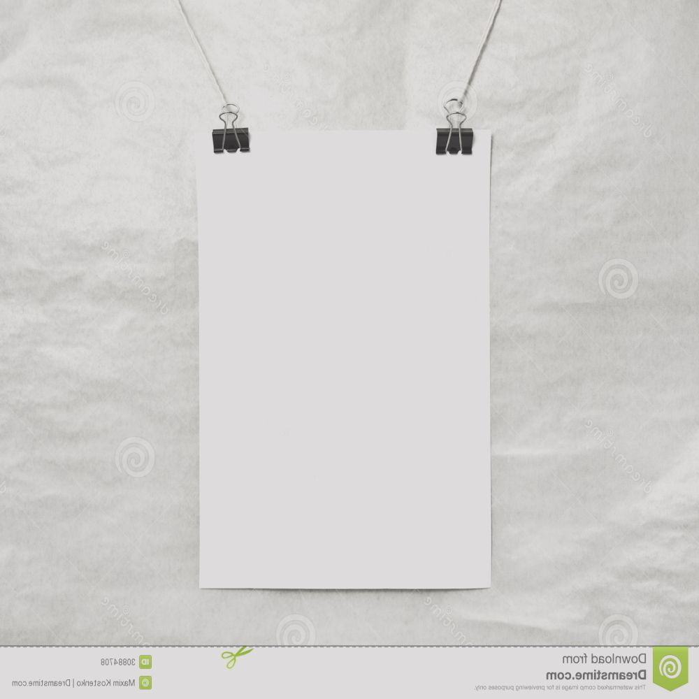 royalty free stock photos blank white poster rope image