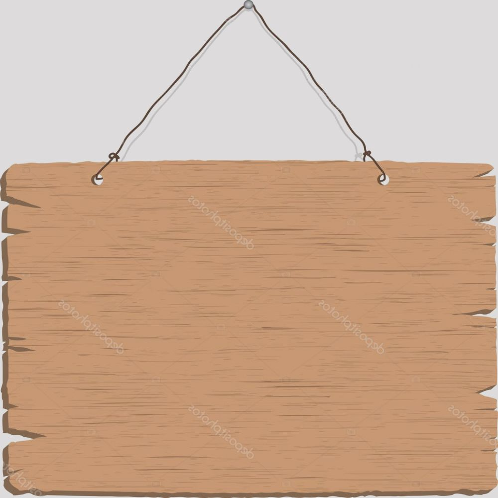 stock photo hanging blank wooden sign