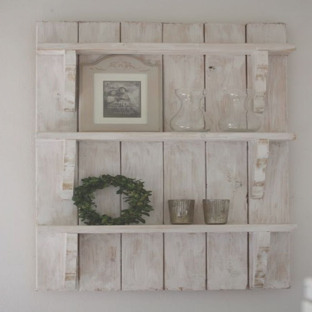 estanterias decorativas de pared hechas con palets