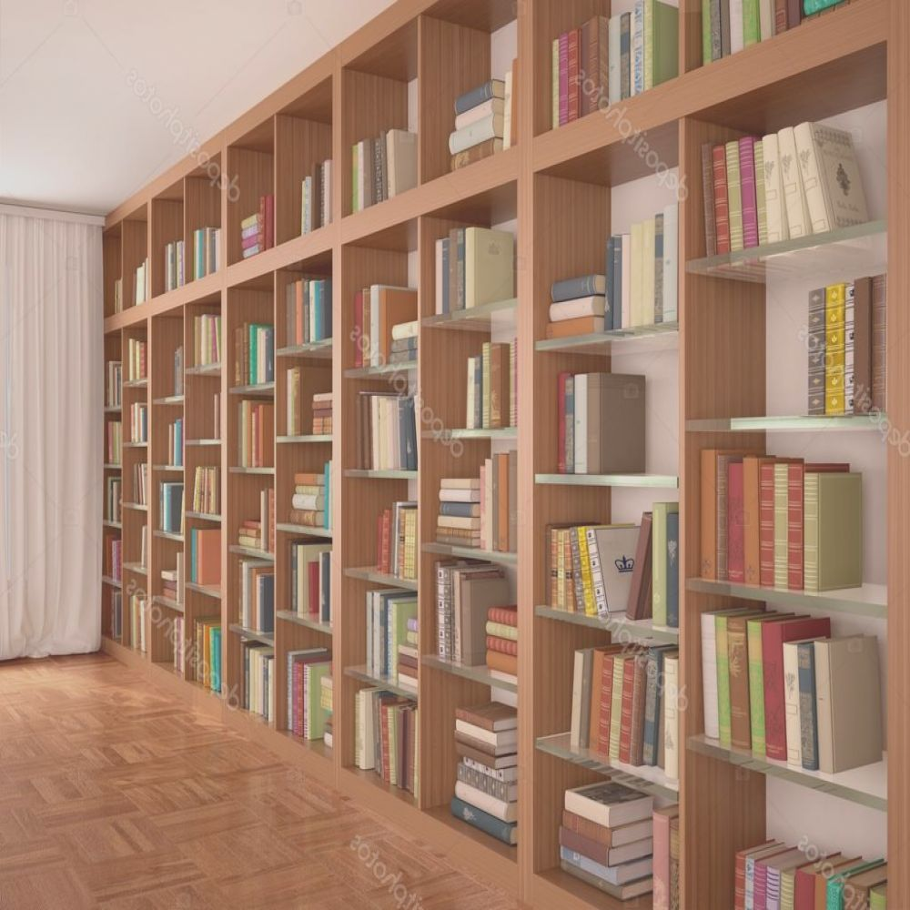 stock photo wooden and glass shelves with