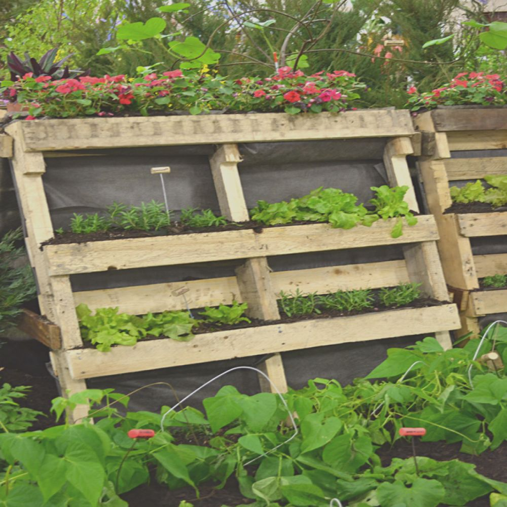 use trash to make vertical garden plant tags even furniture