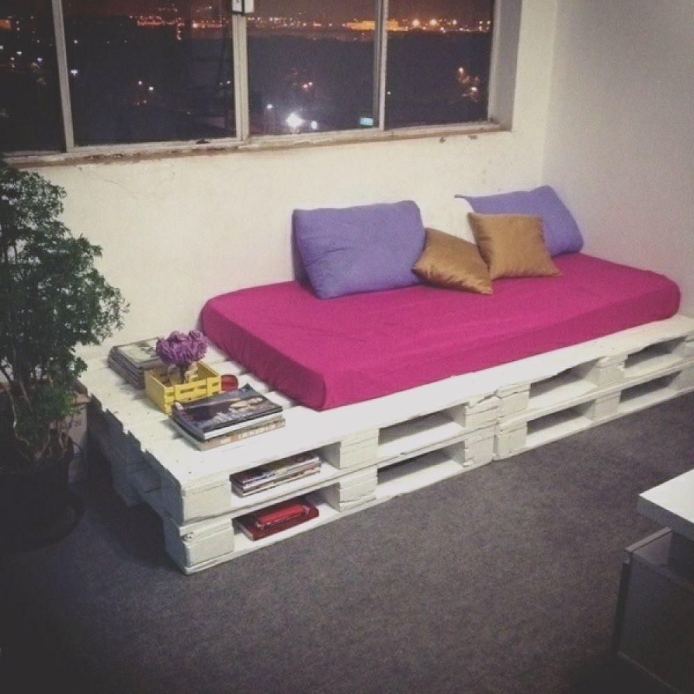 sofa from pallets integrate diy furniture is practical and original