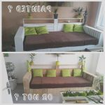 Sofas Palet Agradablewhite Pallet Sofa Do You Prefer It Painted Or Not • 1001