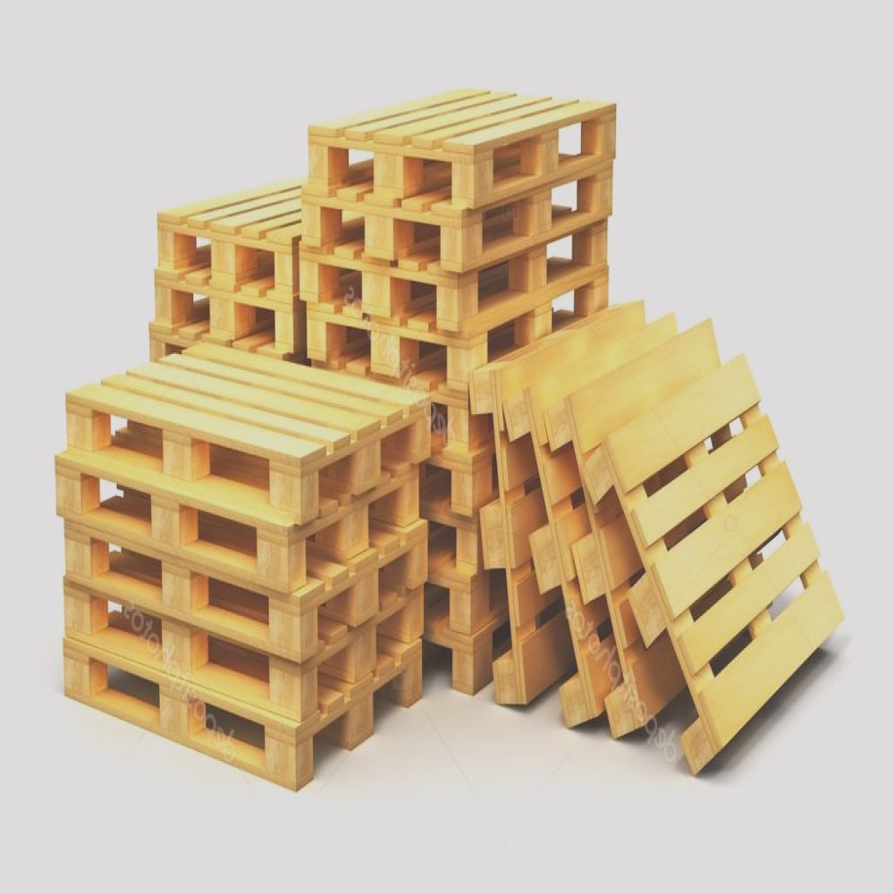 stock photo stacks of wooden shipping pallets