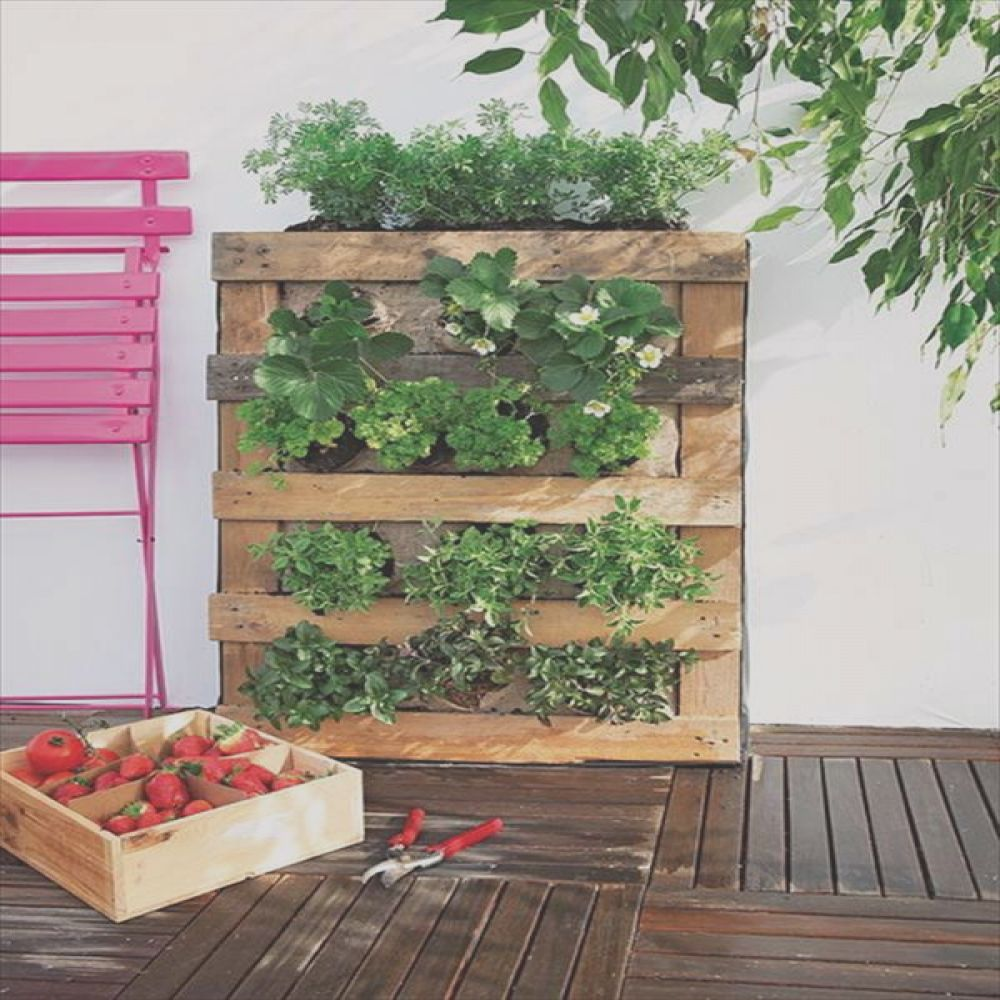 10 wood pallet vertical garden on your wall