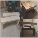 Mesa Palet Elevable Únicotable & Benches From Discarded Pallet Boards