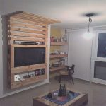 Muebles Tv Palets Elegantepallet Wall Works For Tv Placement