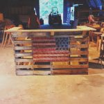 Barras Con Palets Nuevorustic Yet Moder Pallet Bar With American Flag