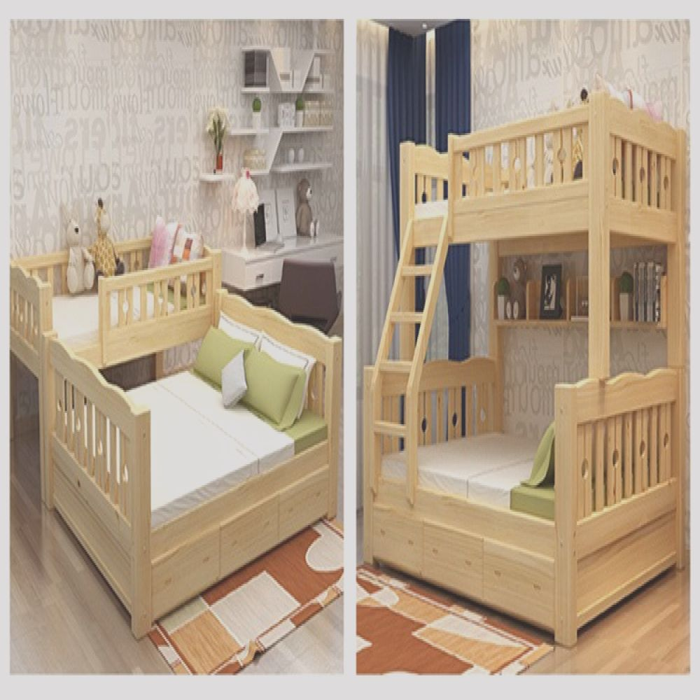 2016 hot sale high quality bunk bed for kid bed children double wooden furniture