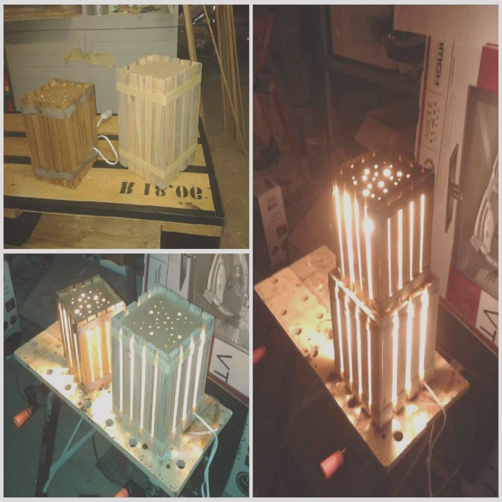 homemade lamps with pallets