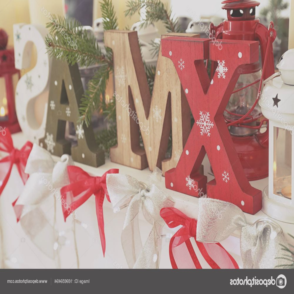 stock photo wooden letters xmas and christmas