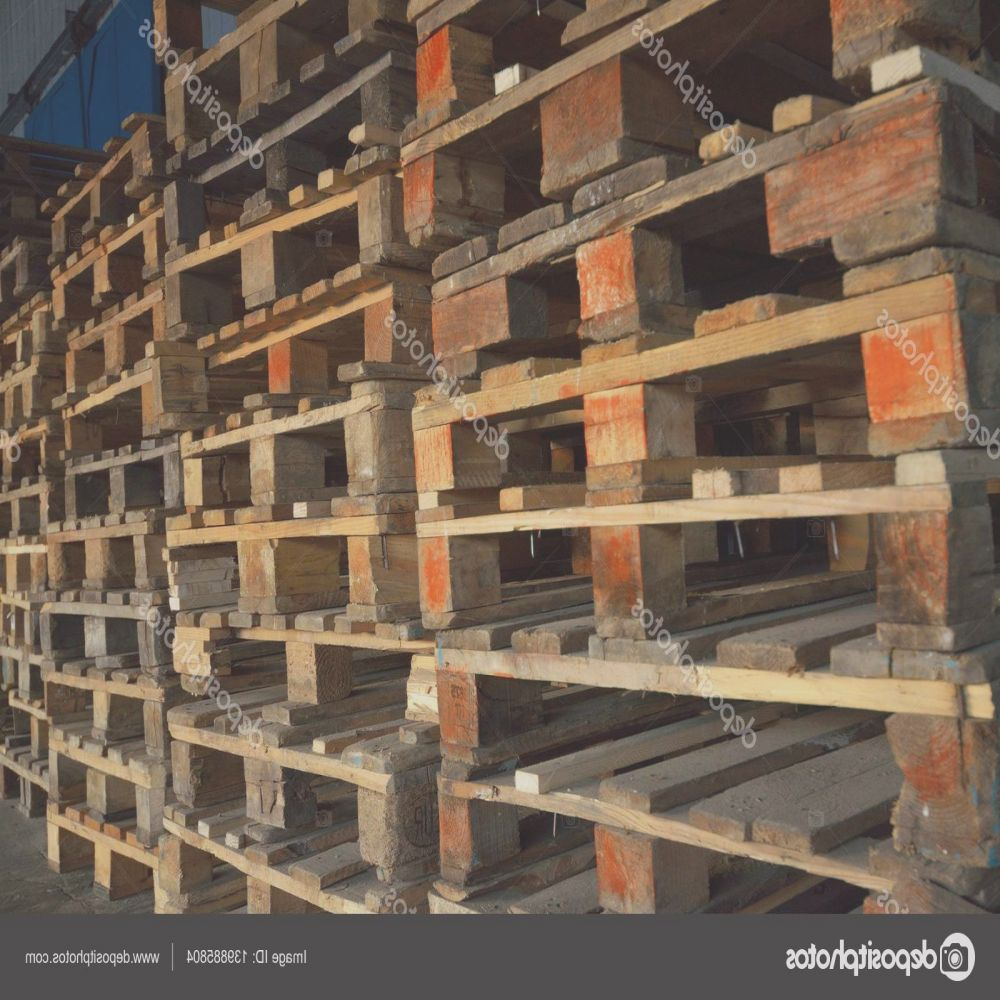 stock photo wooden pallets wood texture pallets