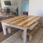 Mesa De Centro Palet Impresionantepallet Dining Table And Bench – 101 Pallets