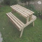 Mesa De Jardin Con Palets Lujogarden Picnic Table Made With Discarded Pallets • 1001 Pallets