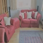 Sofas Pales Únicosofa Set In Red With A Full Set Of Pale Blue Covers