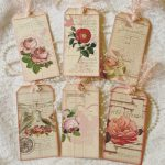 Tag Scrap Frescovintage Roses 6 Hang Tags Scrapbooking Cards Crafts